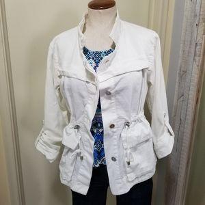 Calvin Klein Cotton Canvas Anorak Jacket White S